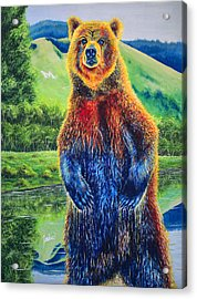 The Zookeeper - Special Missoula Montana Edition Acrylic Print by Teshia Art