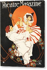 Theatre Magazine 1920s Usa Pierrot Acrylic Print by The Advertising Archives