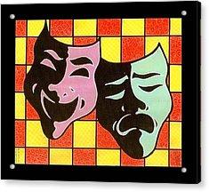 Theatre Masks Acrylic Print by Jim Harris
