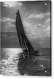 Thebaud Setting Out To Sea Acrylic Print by Underwood Archives