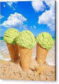 Thee Minty Icecreams Acrylic Print