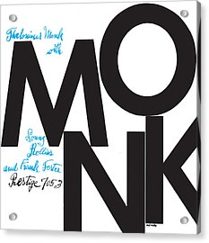 Thelonious Monk -  Monk (prestige 7053) Acrylic Print by Concord Music Group