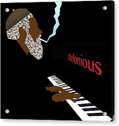 Thelonious Monk Acrylic Print by Victor Bailey