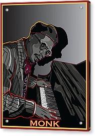 Thelonius Monk Legendary Jazz  Pianist Acrylic Print by Larry Butterworth