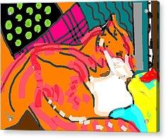 Theo Jazz Acrylic Print by Anita Dale Livaditis