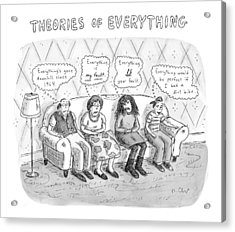Theories Of Everything: 'everything's Gone Acrylic Print by Roz Chast