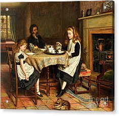 There Is No Fireside... Acrylic Print by George Goodwin Kilburne