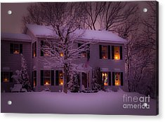 There Is No Place Like Home For The Holidays Acrylic Print by Wayne Moran