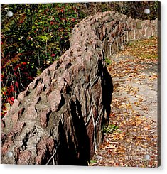 There Was A Crooked Wall Acrylic Print