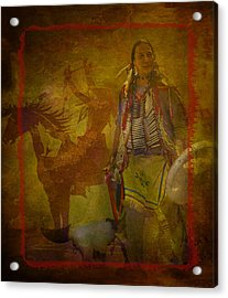 There Was Blood - Tribute To Native Americans Acrylic Print by Jeff Burgess