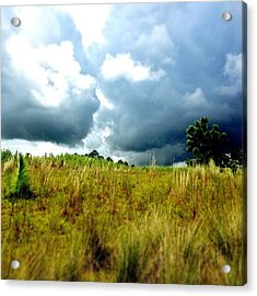 There's A Storm Brewing!!! #golf Acrylic Print by Scott Pellegrin
