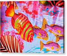 There's Something Fishy Goin' On   Acrylic Print by Anne-Elizabeth Whiteway