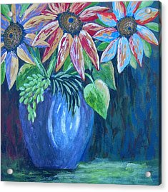 Acrylic Print featuring the painting These Are For You by Suzanne Theis