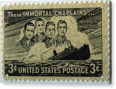 These Immortal Chaplains Acrylic Print