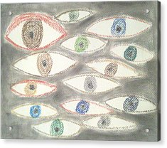 They Are Watching You Acrylic Print by Judith Moore