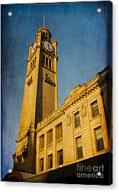 They Don't Build Them How They Used To - Clock Tower Of Central Station Sydney Australia Acrylic Print