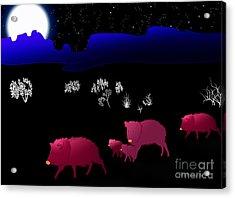 They Walk By Night Acrylic Print