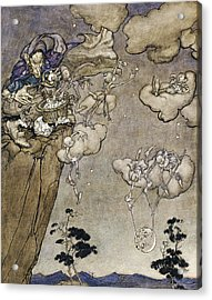 They Were Ruled By An Old Squaw Spirit Acrylic Print by Arthur Rackham