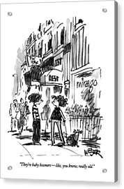 They're Baby Boomers - Like Acrylic Print by Robert Weber