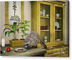 Thief Acrylic Print by Jutta Maria Pusl