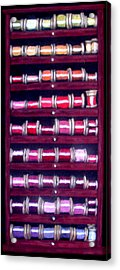 Thimbles In Cabinet Acrylic Print by Joseph Hawkins