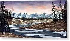 Thin Ice Acrylic Print by Rick Bainbridge