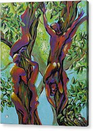 Acrylic Print featuring the painting Think Like A Tree by Robert D McBain