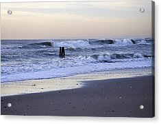 Think Metal - Morning Ocean Rockaways Acrylic Print