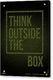 Think Outside Of The Box Poster Acrylic Print