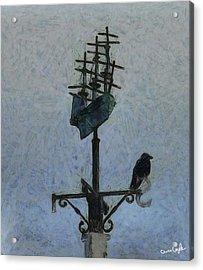 Thinkin Of Flyin South Acrylic Print by Chris Coyle