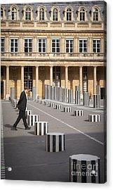 Thinking - At Palais Royal Acrylic Print by Brian Jannsen