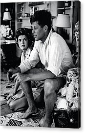 John F. Kennedy And Jackie Onassis Acrylic Print by Retro Images Archive