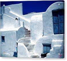 Thirasia Island Ancient House Near Santorini Greece Acrylic Print by Colette V Hera  Guggenheim