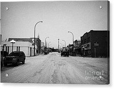 third avenue main street through Kamsack Saskatchewan Canada Acrylic Print by Joe Fox