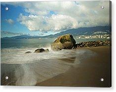 Third Beach In Vancouver Acrylic Print by Ann  Badjura
