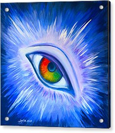 Third Eye Diamond Acrylic Print by Agata Lindquist