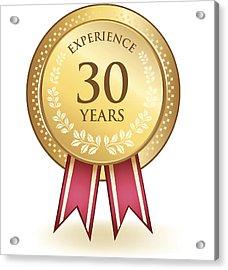 Thirty Years Experience Acrylic Print by Blankaboskov