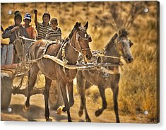 This Is Namibia No. 23 - Going To Town The Old Fashioned Way Acrylic Print by Paul W Sharpe Aka Wizard of Wonders