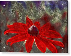 This Is Not Just Another Flower - Spr01 Acrylic Print by Variance Collections