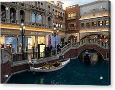 It's Not Venice - The White Wedding Gondola Acrylic Print