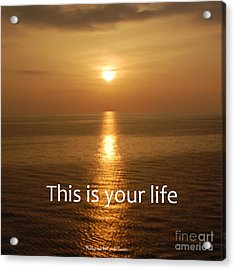 This Is Your Life Acrylic Print by Linda Prewer
