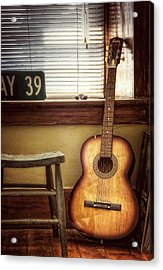 This Old Guitar Acrylic Print by Scott Norris