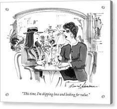 This Time, I'm Skipping Love And Looking Acrylic Print by Bernard Schoenbaum
