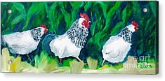 This Way Girls - Original Sold Acrylic Print by Therese Alcorn