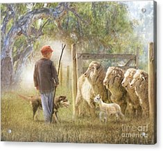 This Way Please ..... Acrylic Print by Trudi Simmonds