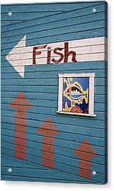 This Way To The Fish Acrylic Print by Carol Leigh