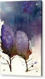 Acrylic Print featuring the painting Thistle Weather by Anne Duke