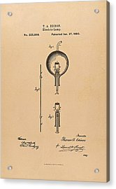 Thomas Edison Patent Application For The Light Bulb Acrylic Print by Movie Poster Prints