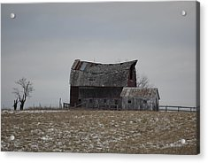 Thomas Hill Barn Acrylic Print