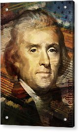 Thomas Jefferson Acrylic Print by Corporate Art Task Force